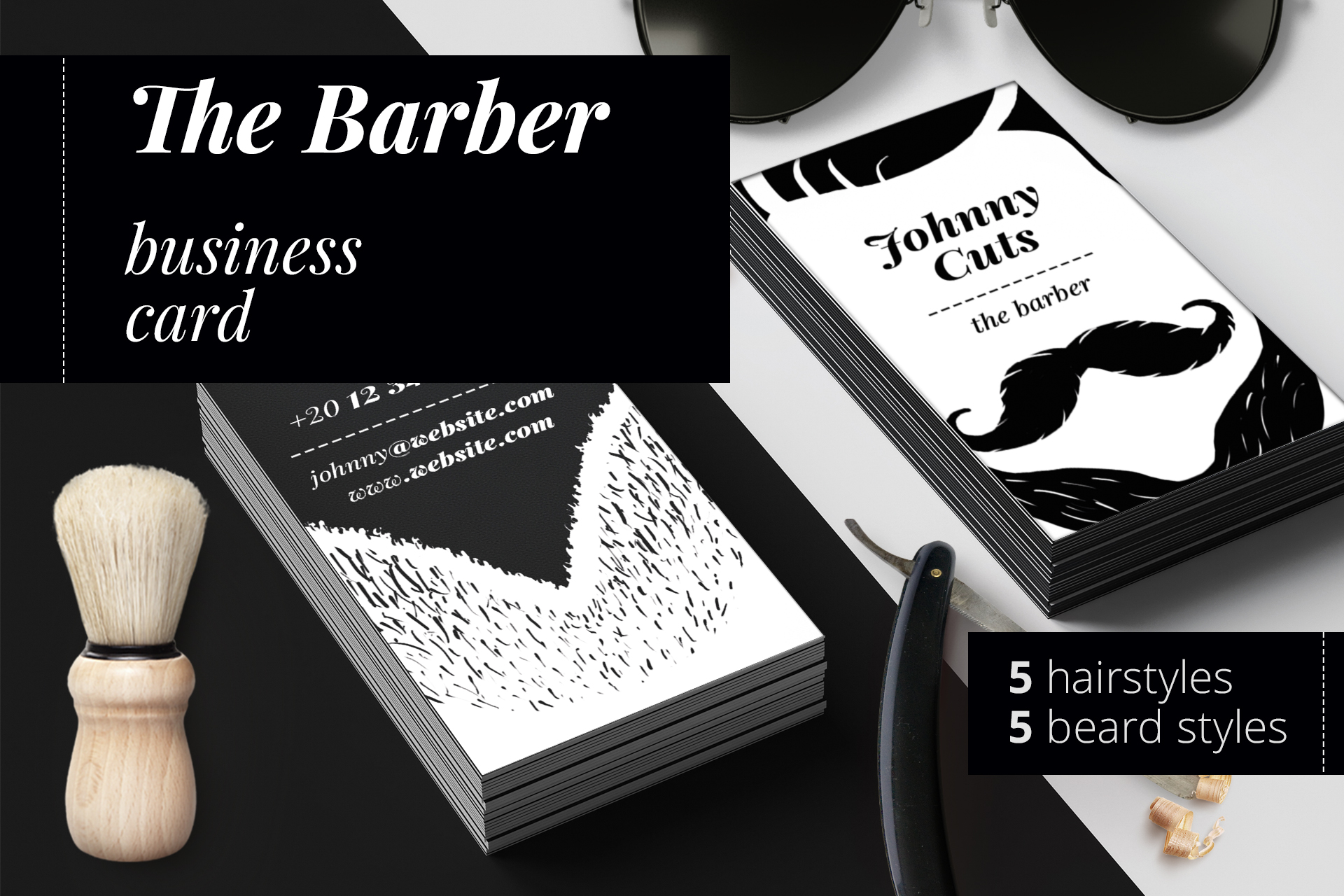 The Barber Business Cards Templates Example Image 1