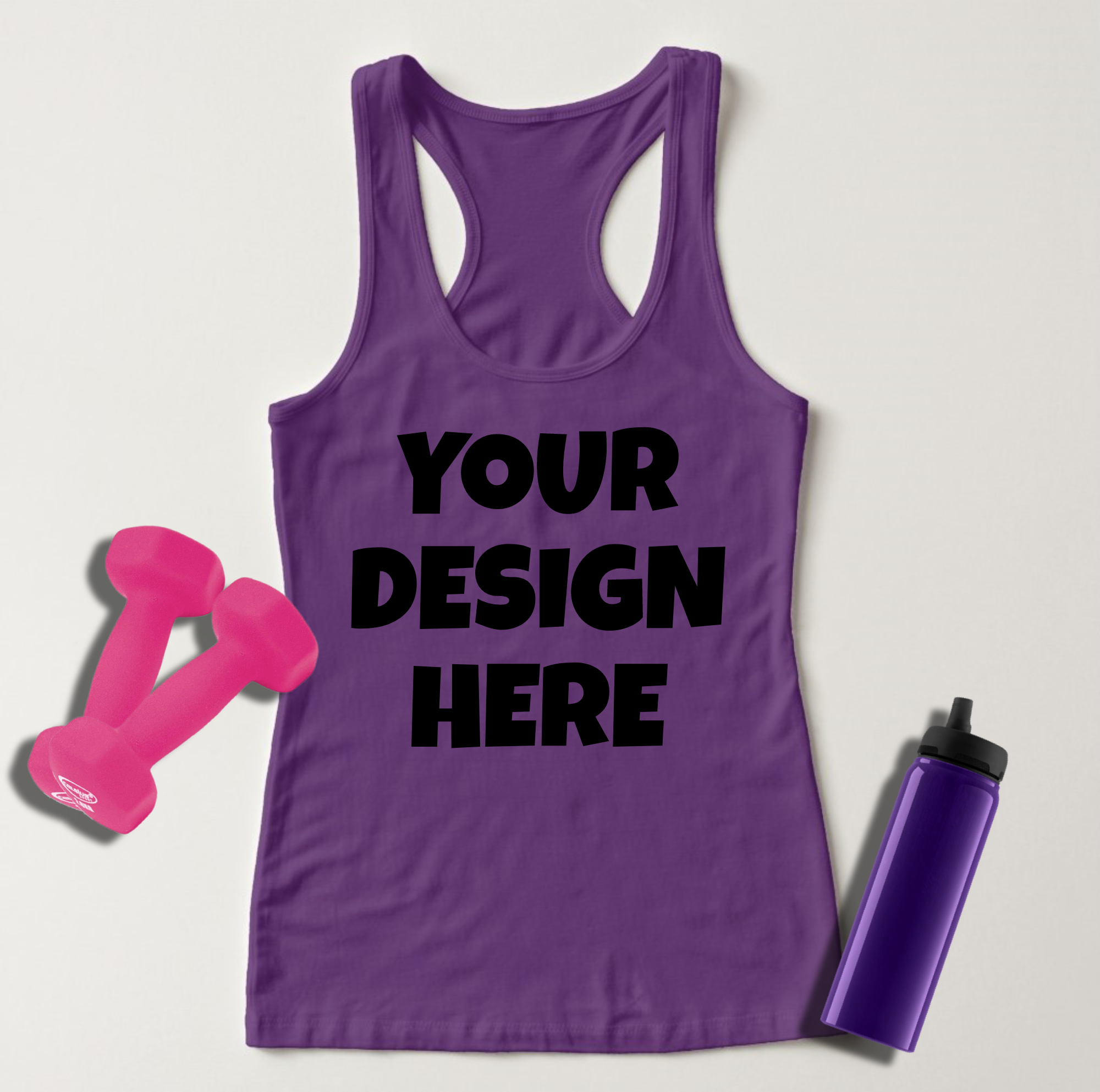 Ladies Tank Top Mockups - 20|Front/Back|PNG example image 17