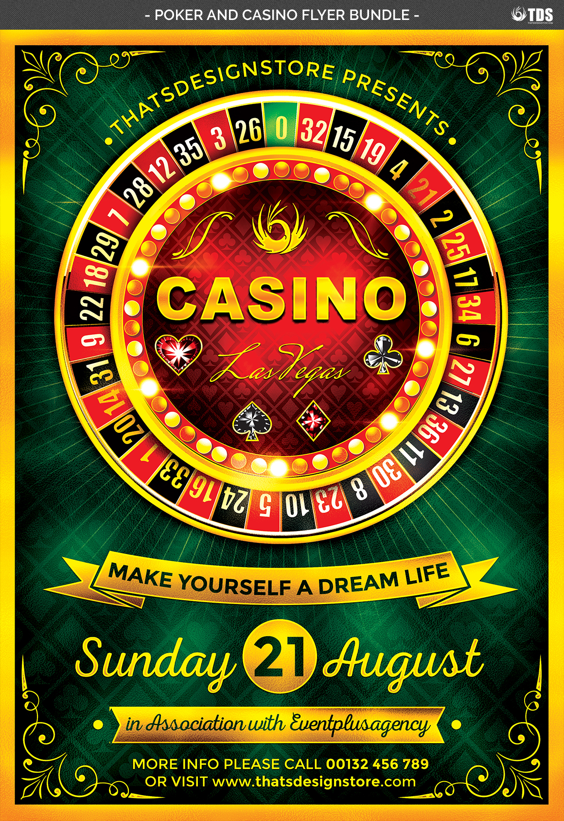 Poker and Casino Flyer Bundle example image 8