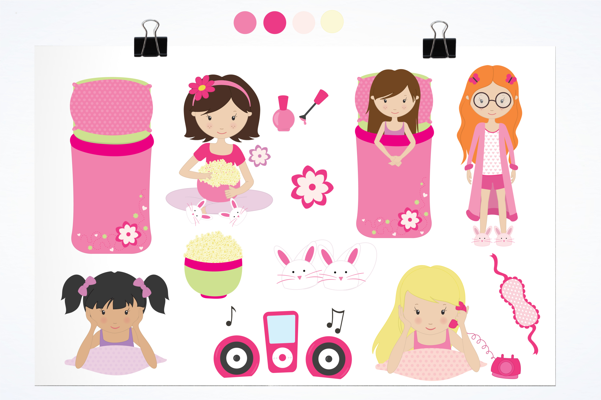 Girls Wanna Have Fun graphics and illustrations example image 2