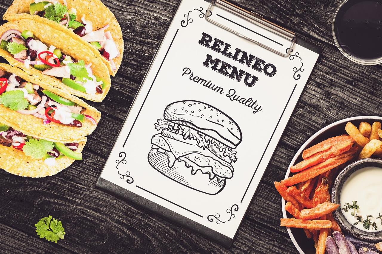Fast Food Menu Mock-up Pack#1 example image 3
