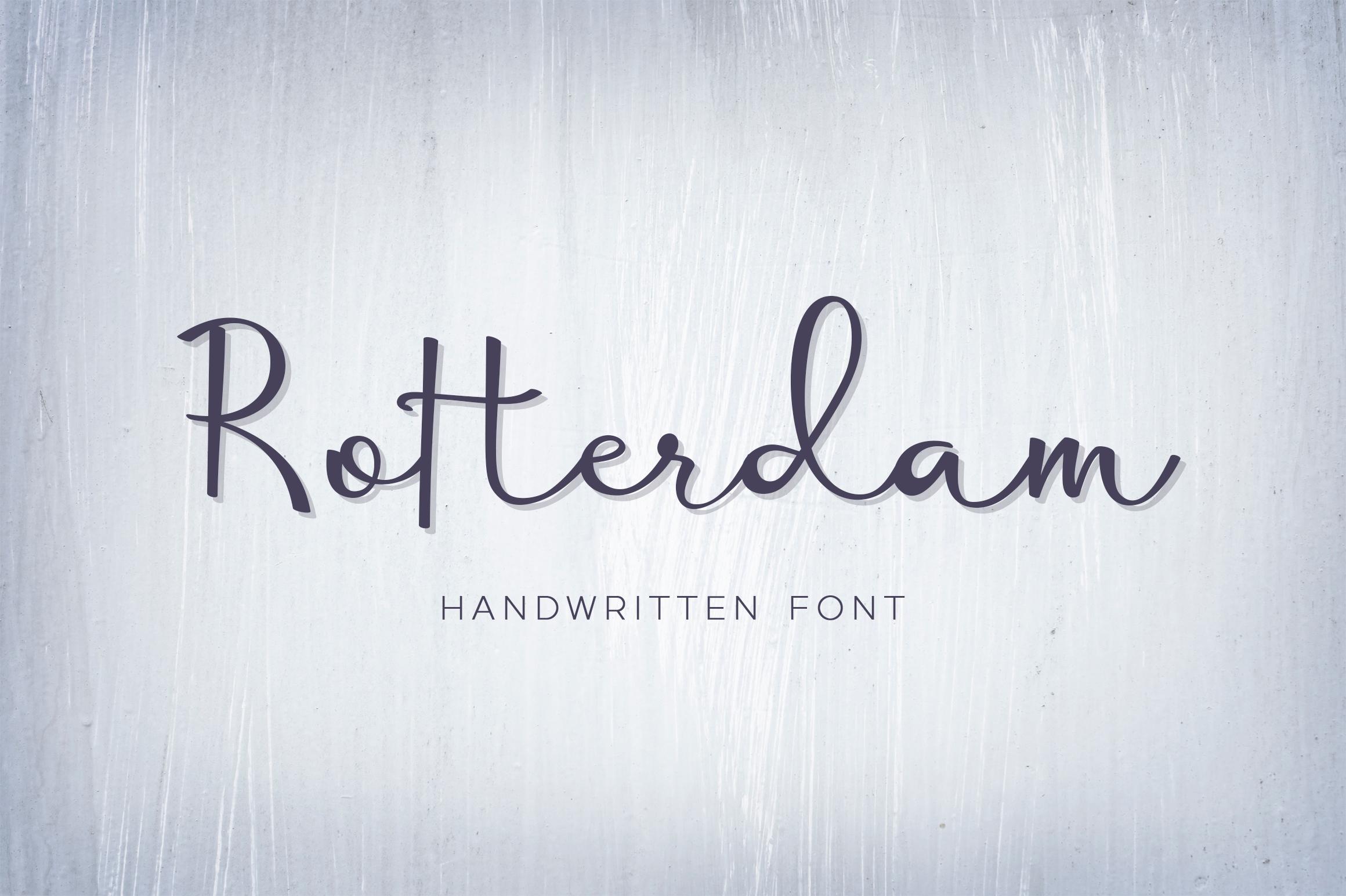 Rotterdam - handwritten calligraphy font example image 1