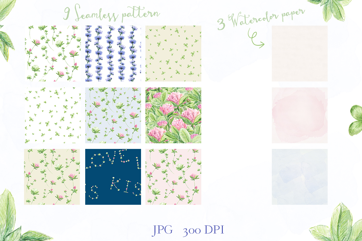 Watercolor collection of summer flowers example image 5