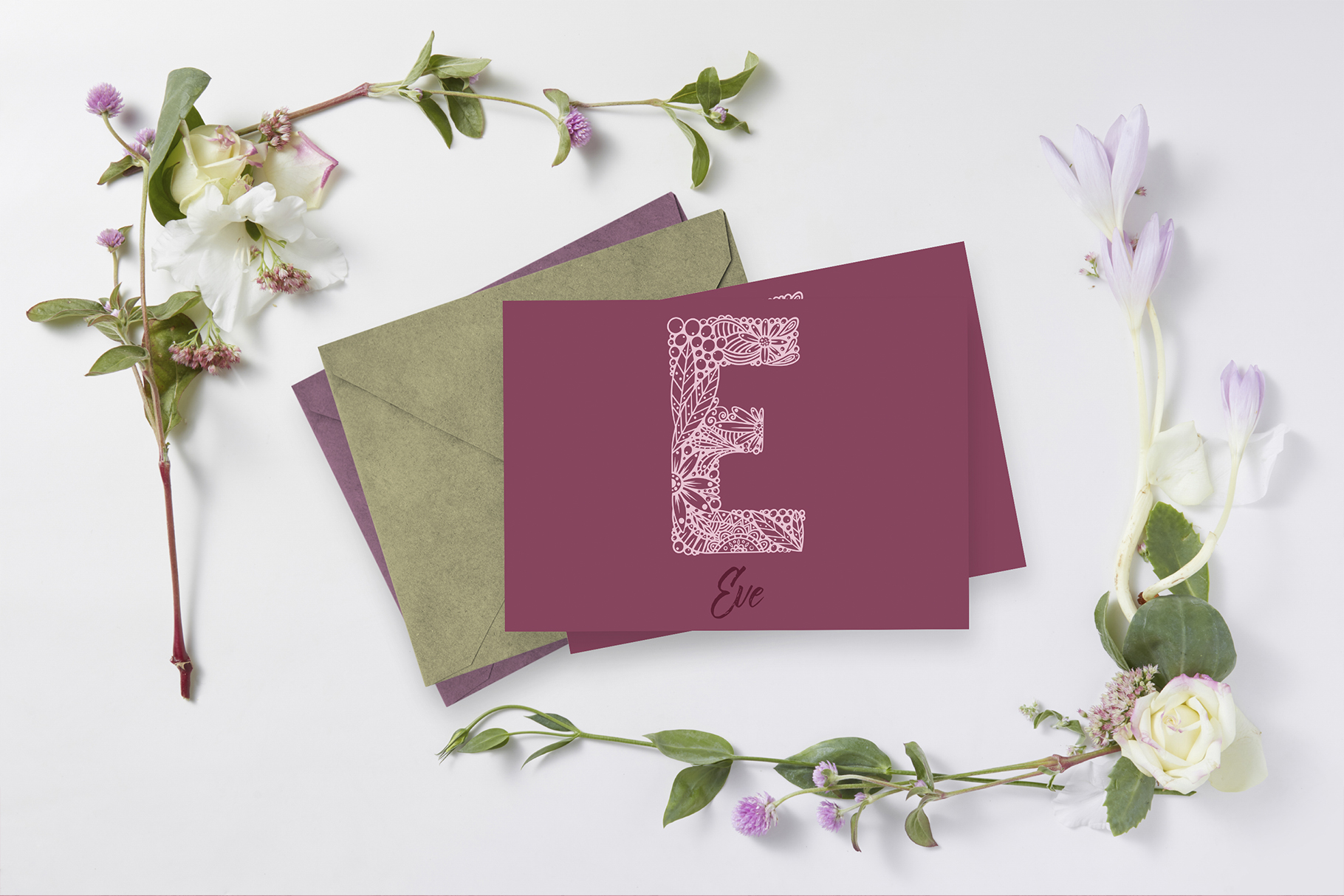 Floral Alphabet SVG CUT FILE example image 5