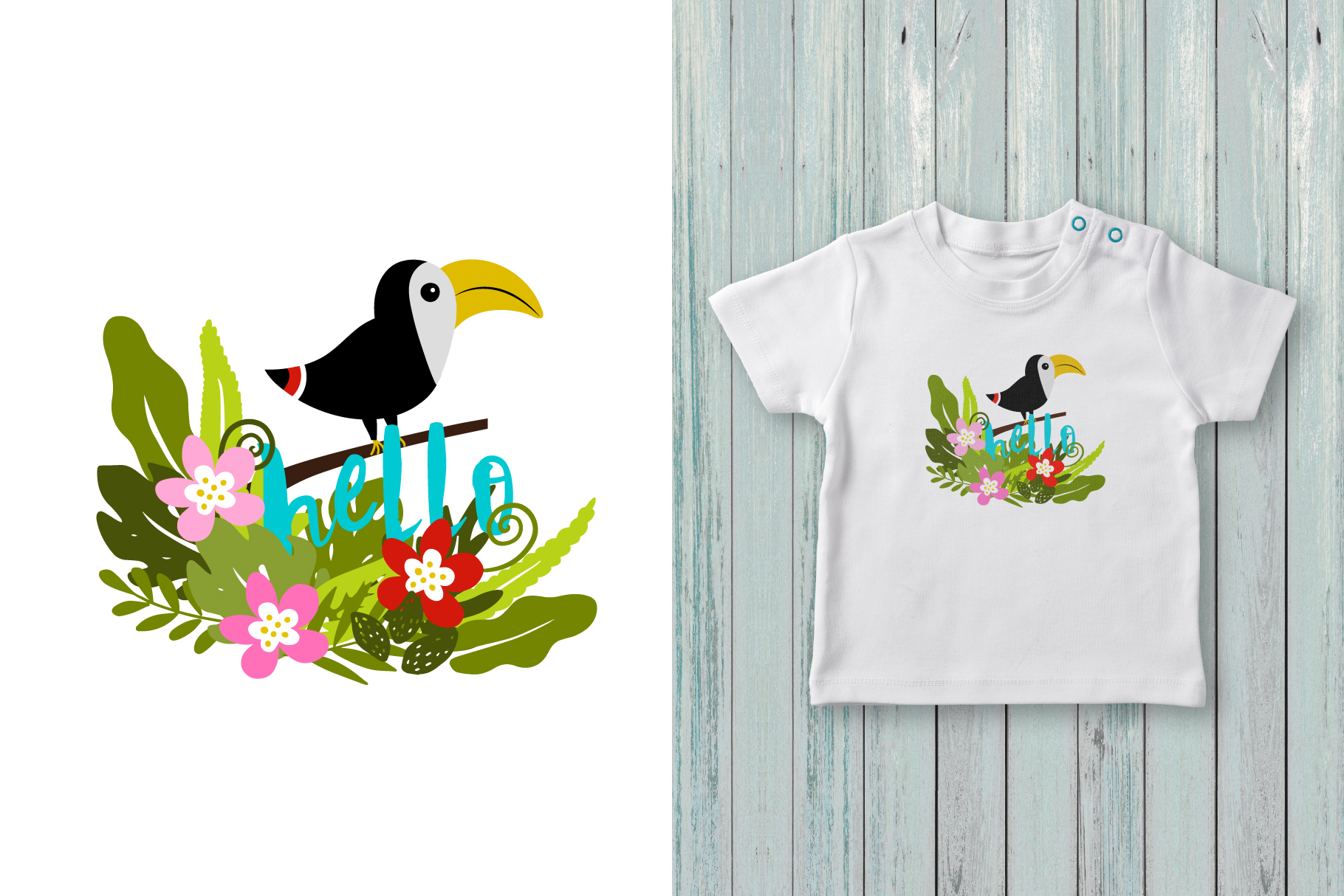 Hello summer! Tropical collection example image 6