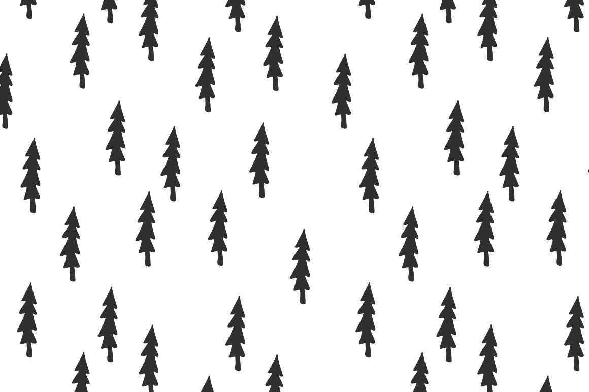 Trees pattern collection example image 2