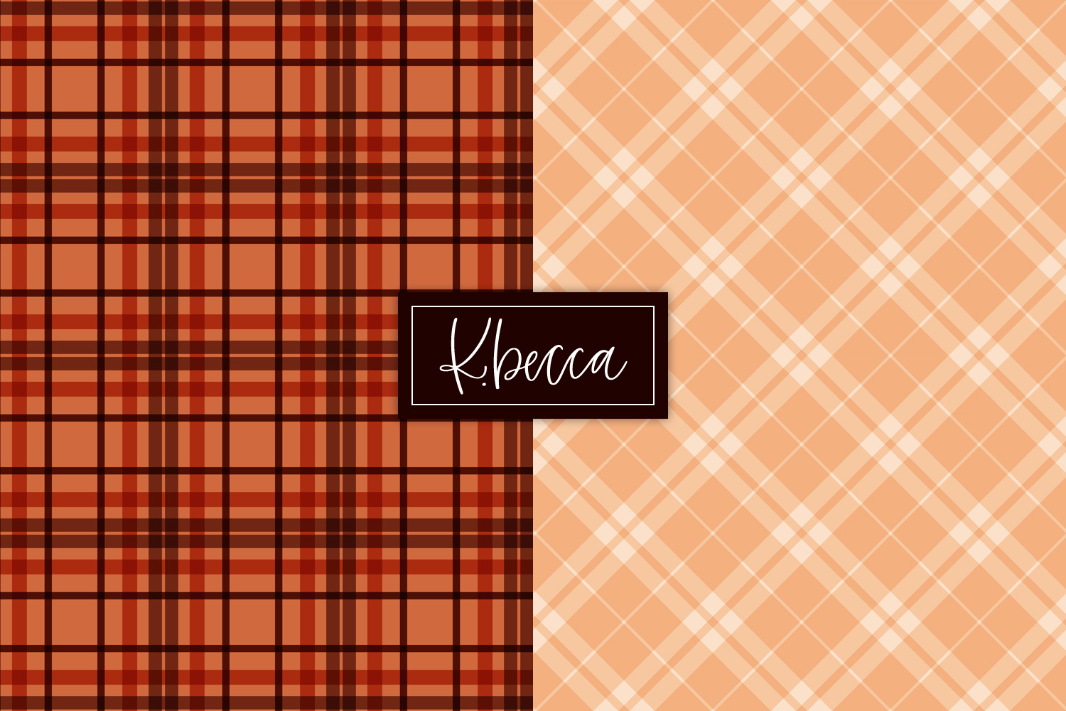 Autumn Fall Plaid Background Patterns Seamless example image 5