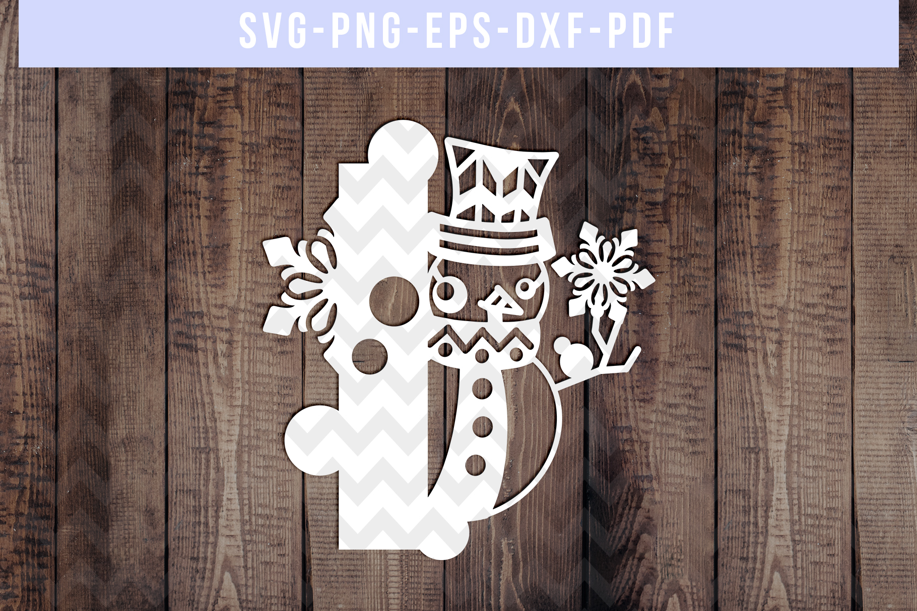 Snowman Font I Paper Cut Template, Winter Cutting SVG, DXF example image 1