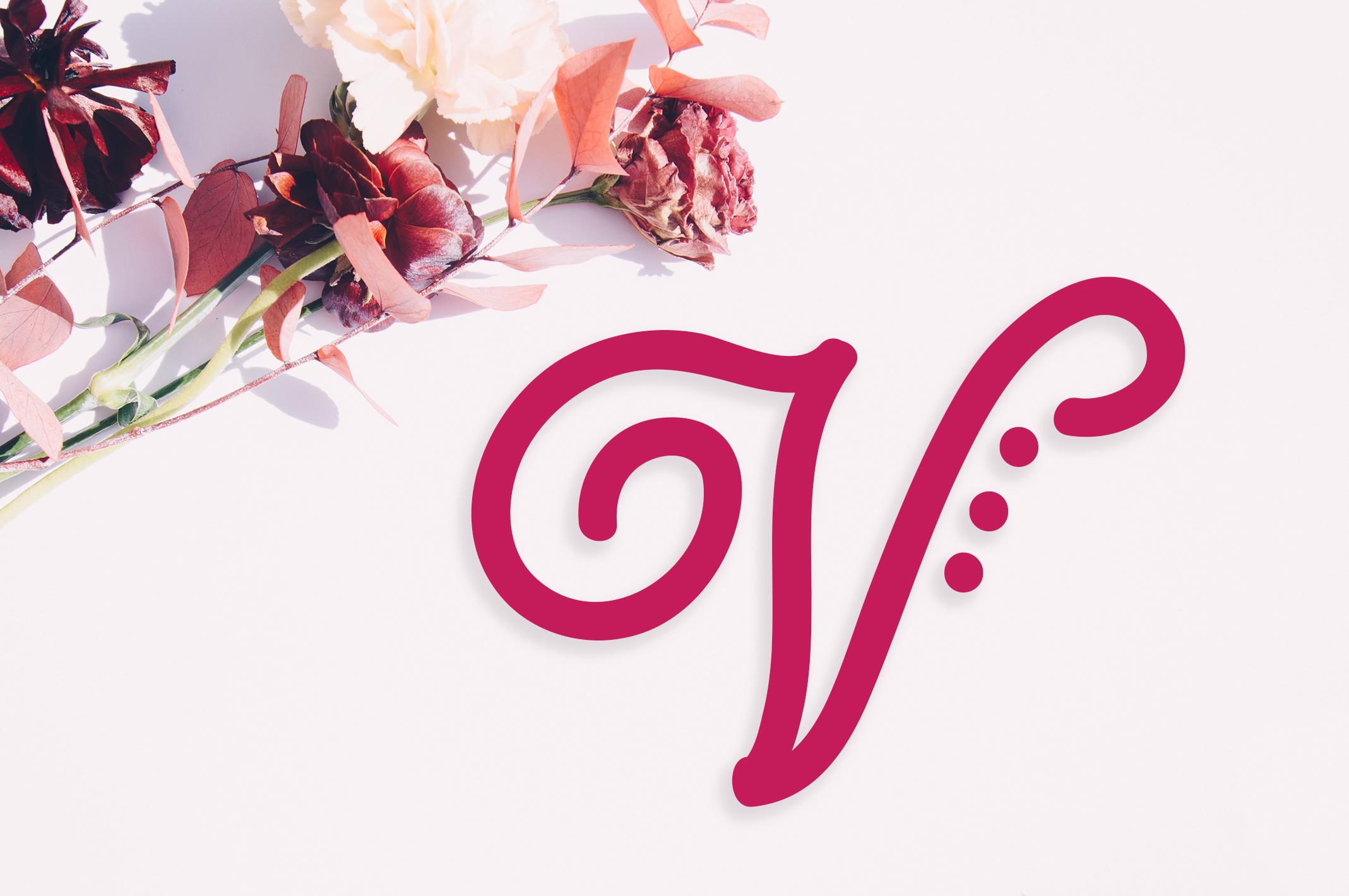 Lusy   Monogram Font example image 4
