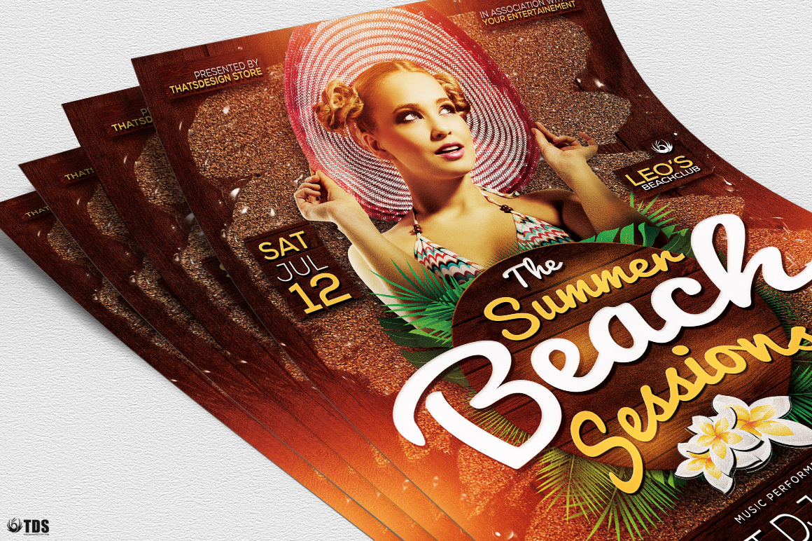 Summer Beach Flyer Template V3 example image 6