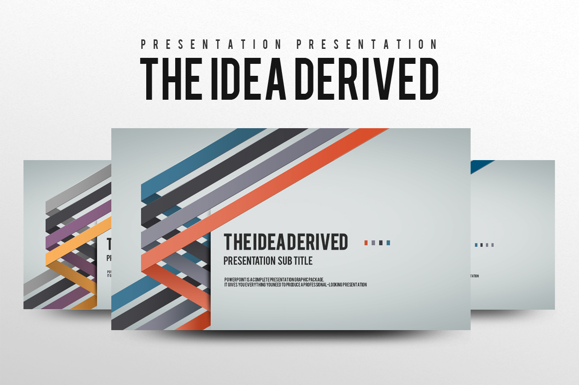 Four Idea PPT Template example image 1