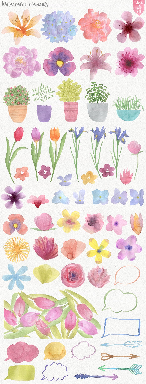 Garden Watercolor DIY example image 2