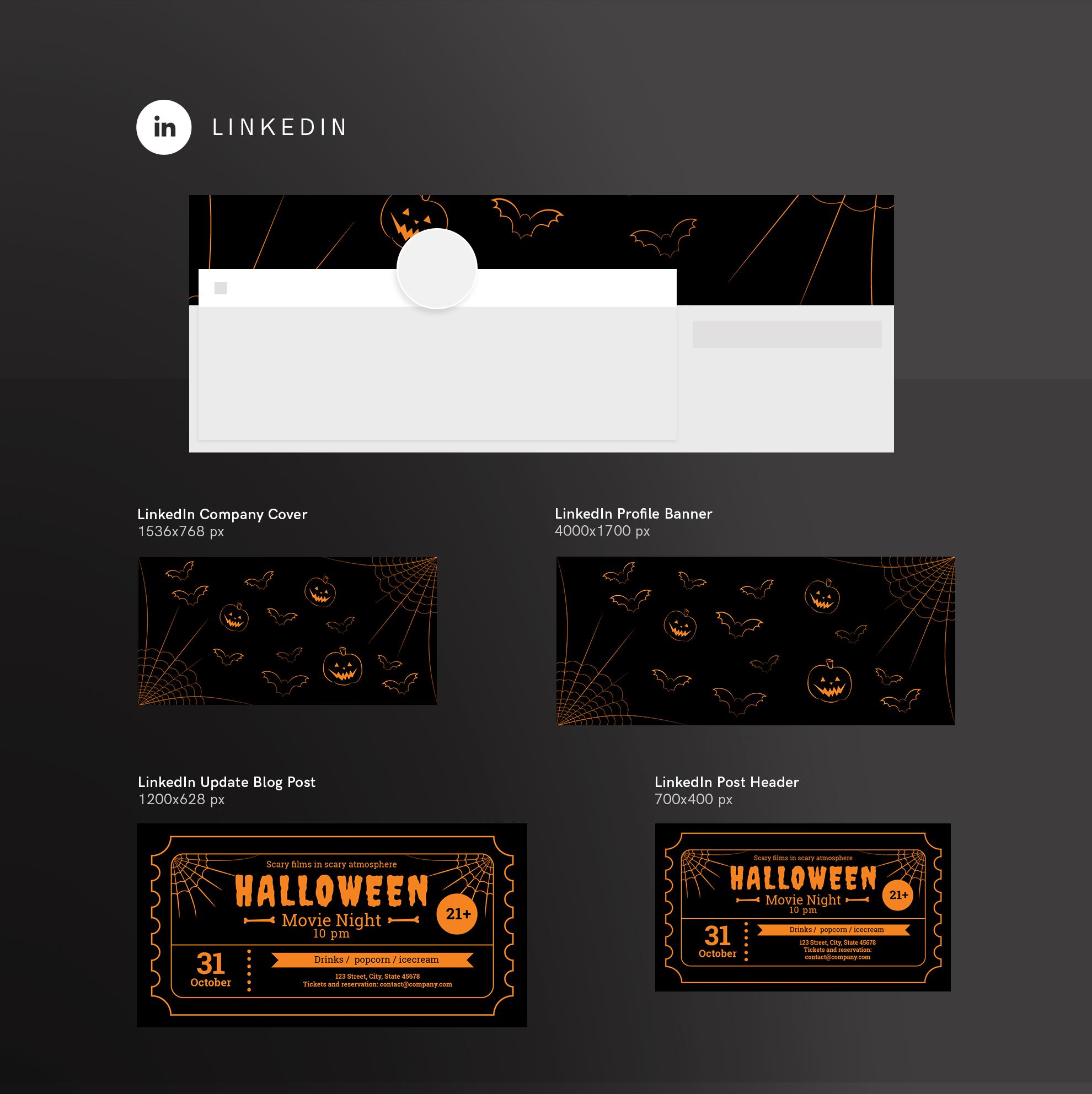 Halloween Movie Night Design Templates Bundle example image 12