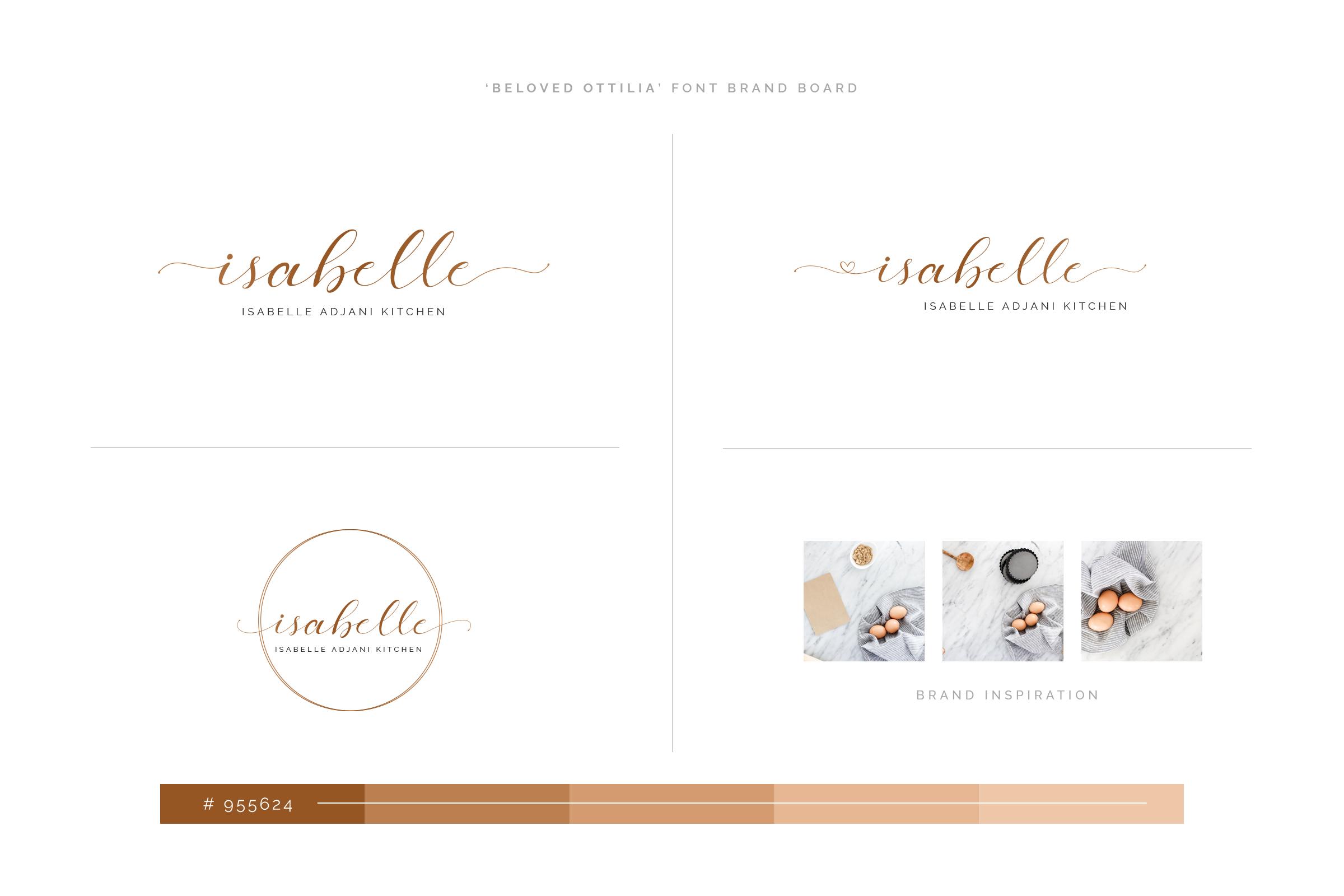 Beloved Ottilia Font 60 Free Logos example image 14