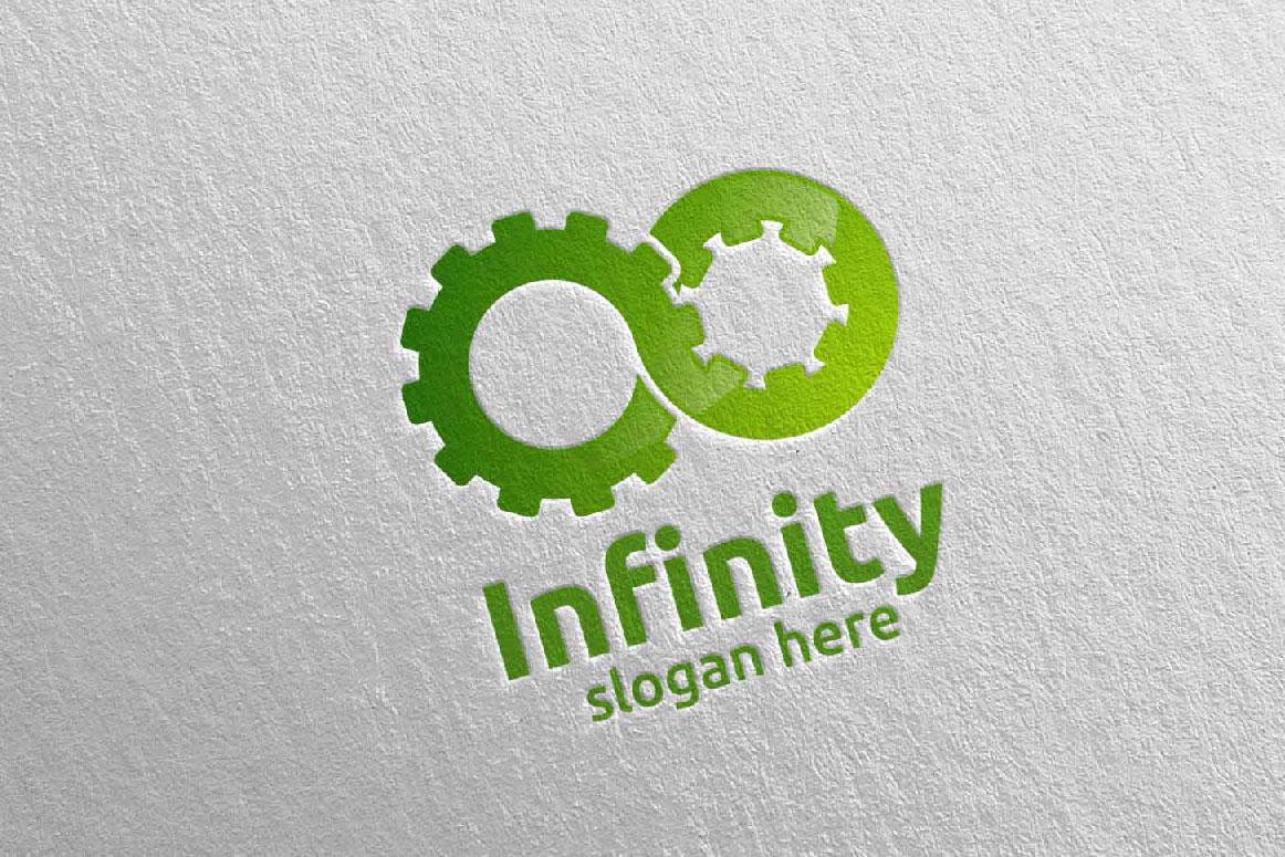 Infinity loop logo Design 9 example image 5