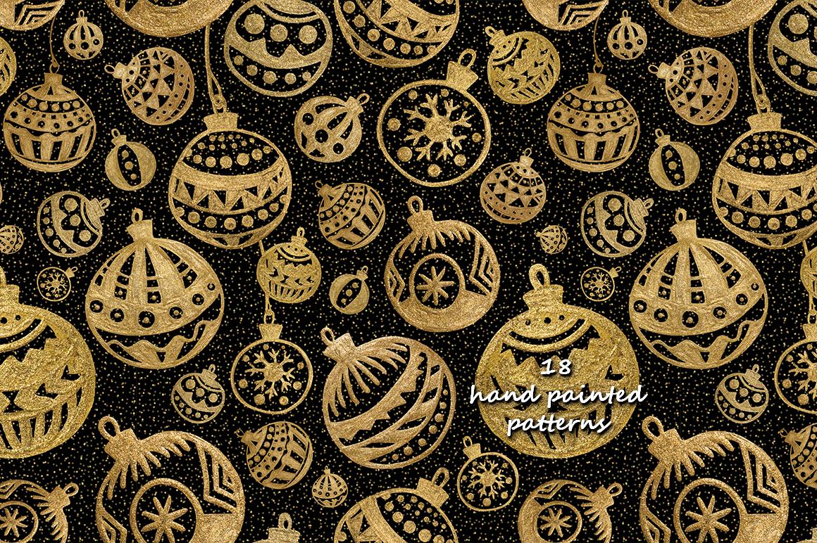 GOLD Christmas balls example image 5