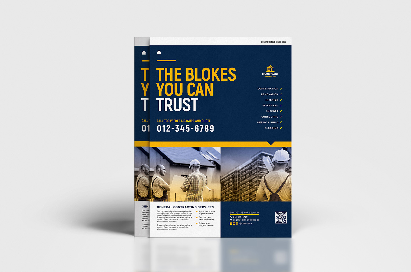 A4 Construction Company Advertisement Templates example image 5