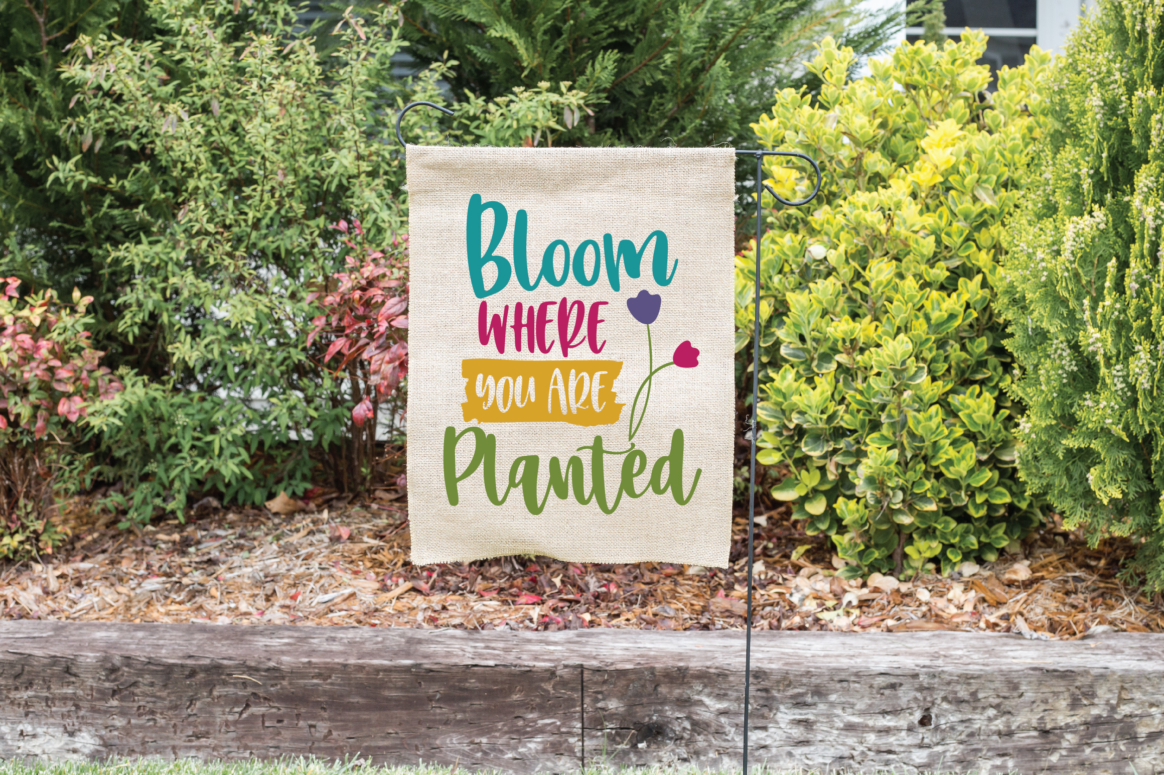Bloom Where You Are Planted SVG Cut File - Spring SVG DXF example image 2
