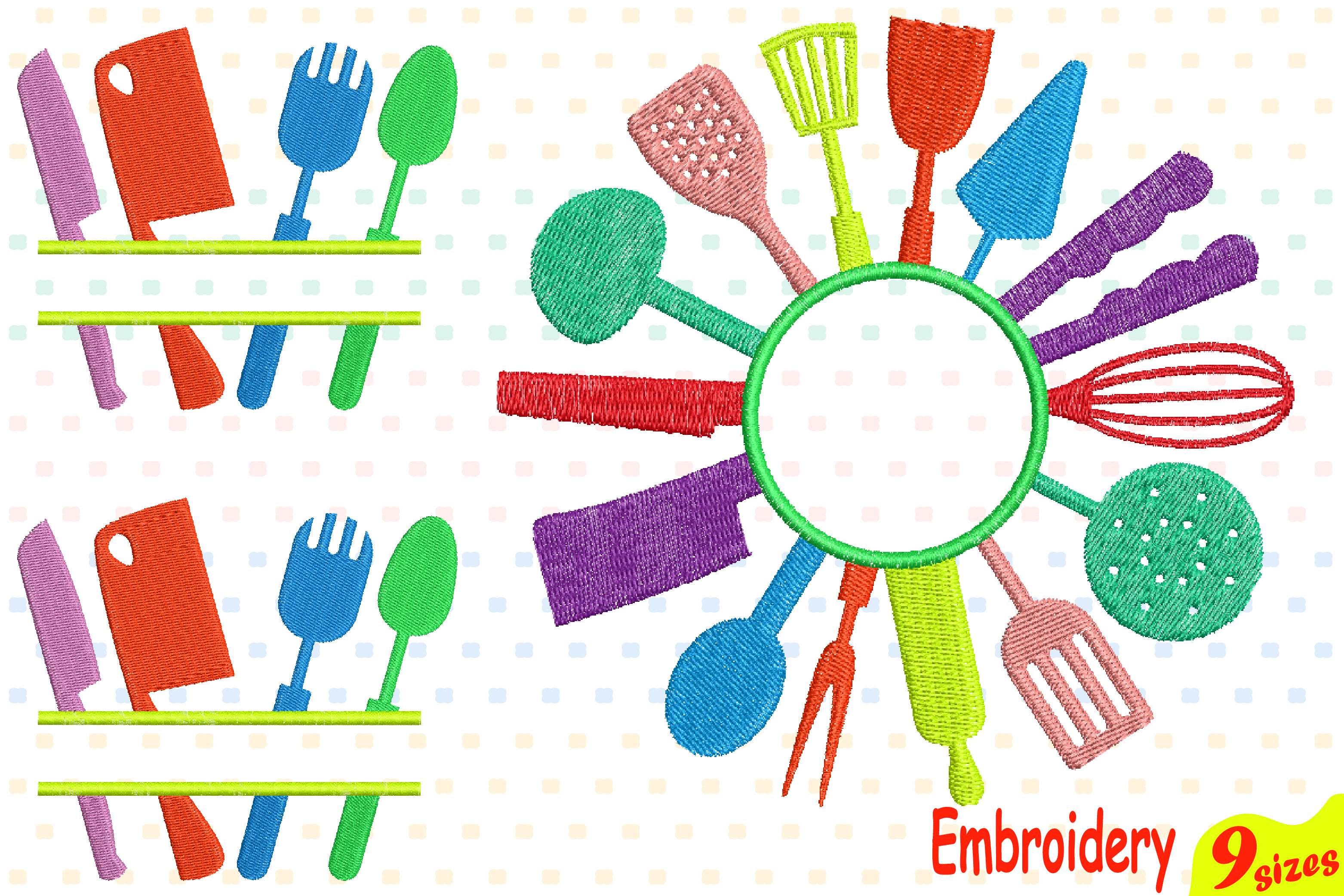Kitchen Embroidery Design Machine Instant Download Commercial Use