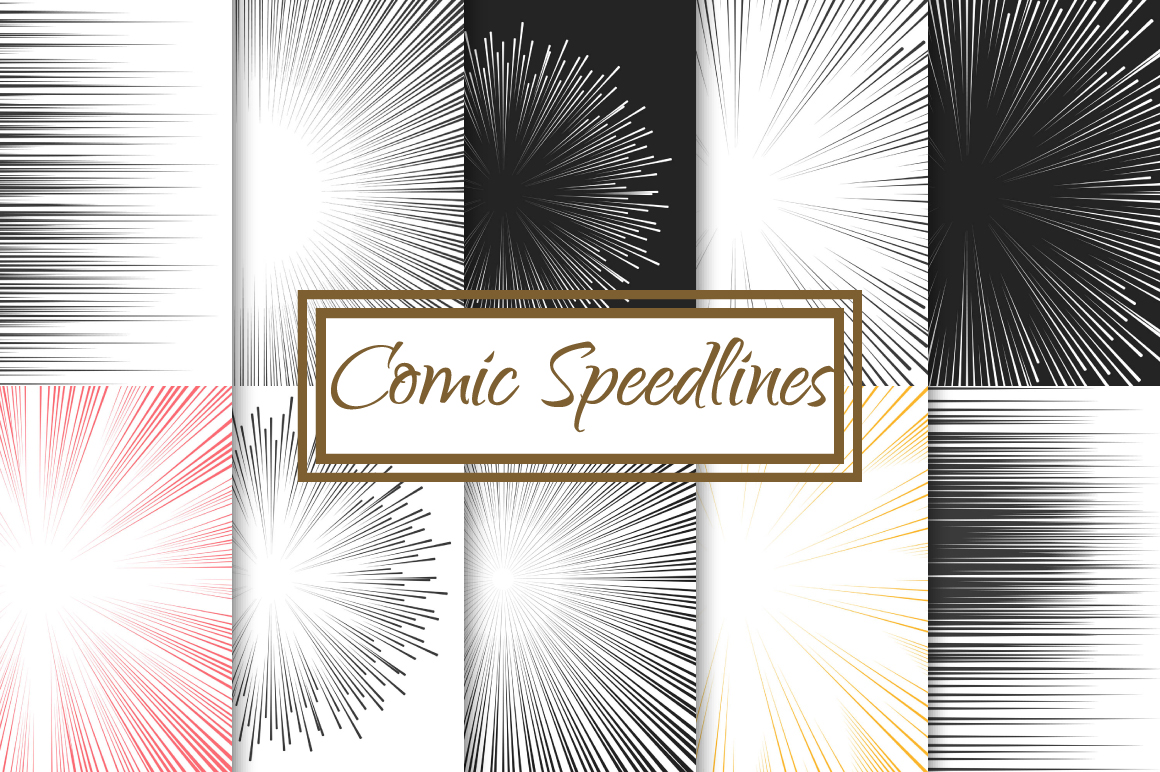 Comic Speed Line backgrounds example image 1
