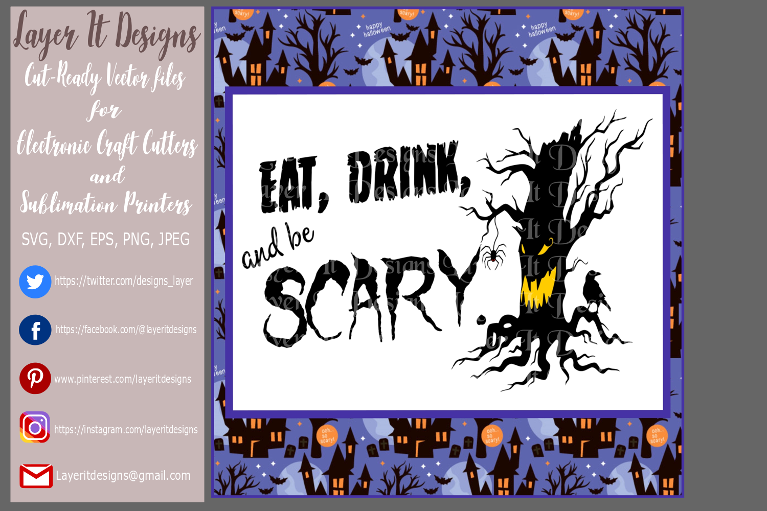 Eat Drink and be Scary Design File example image 3