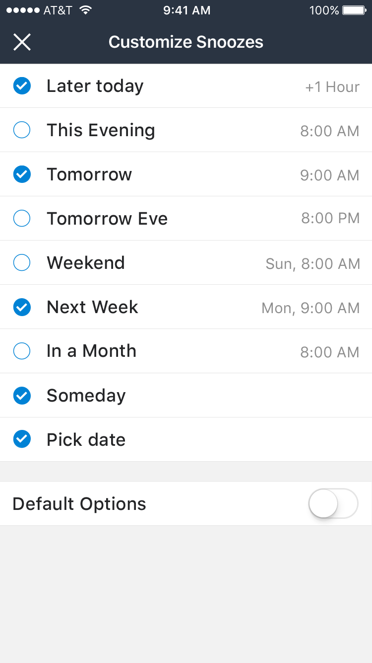 Snooze Mail UI Graphic example image 22