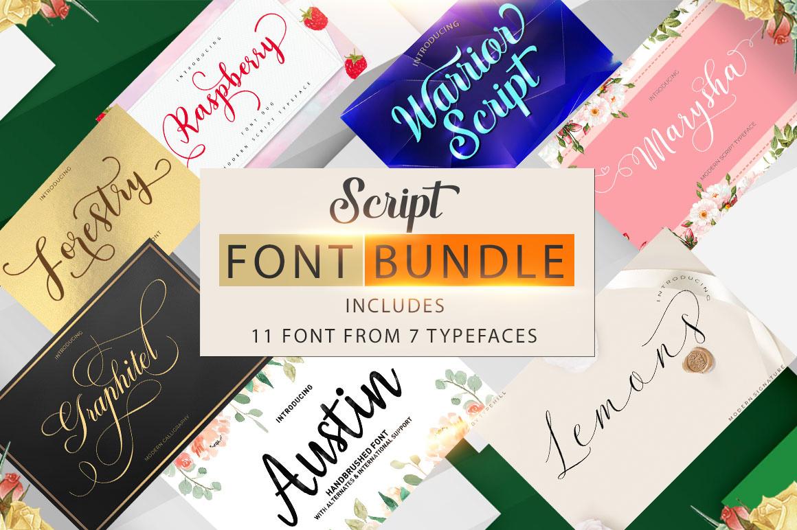 Script Font Bundle example image 1