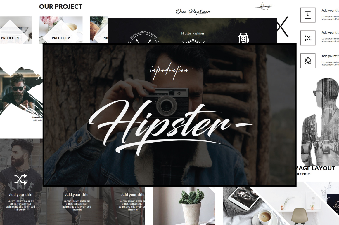 Hipster v.2 Keynote Template example image 1