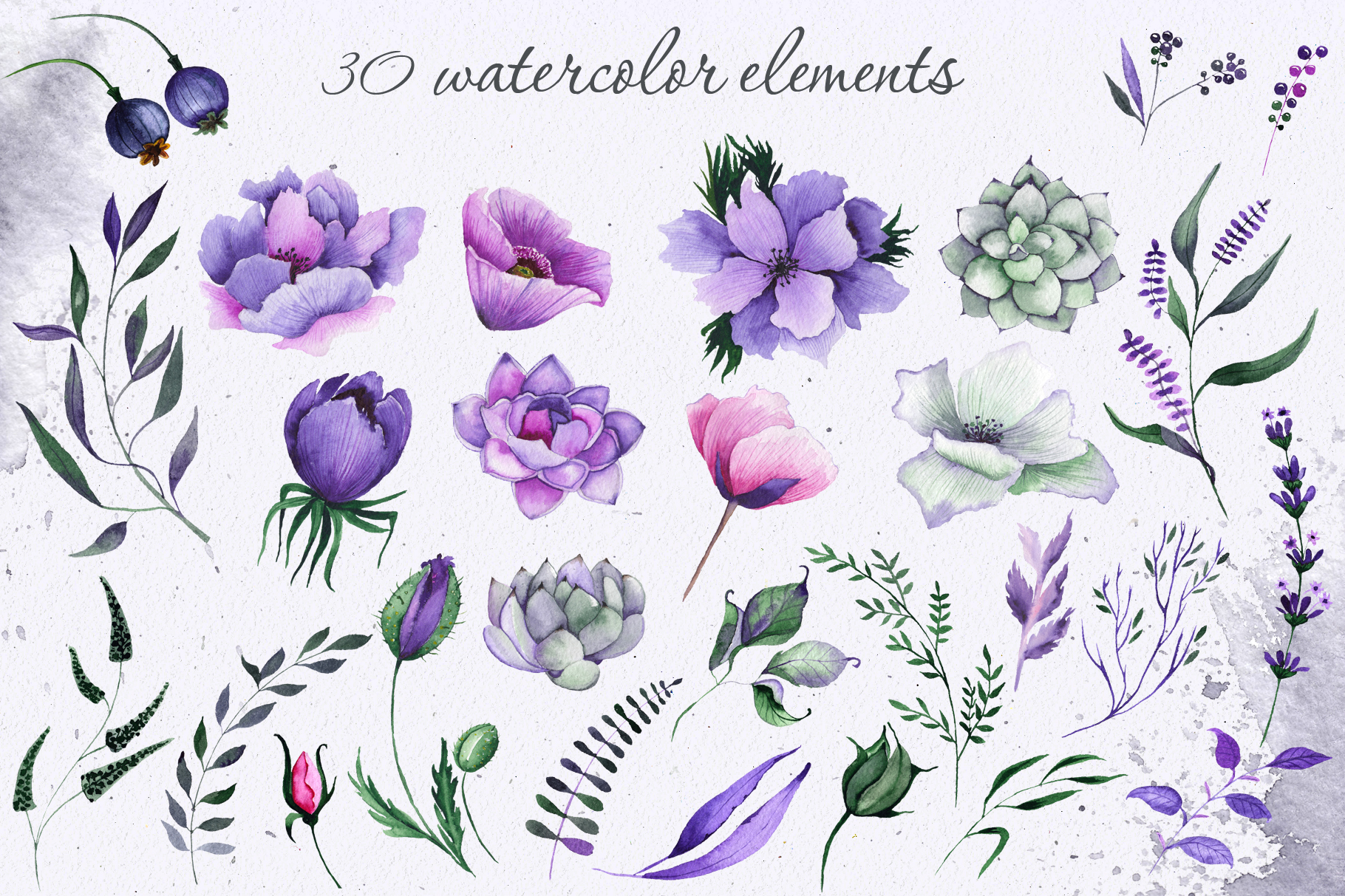 Floral purple green wedding collection example image 14