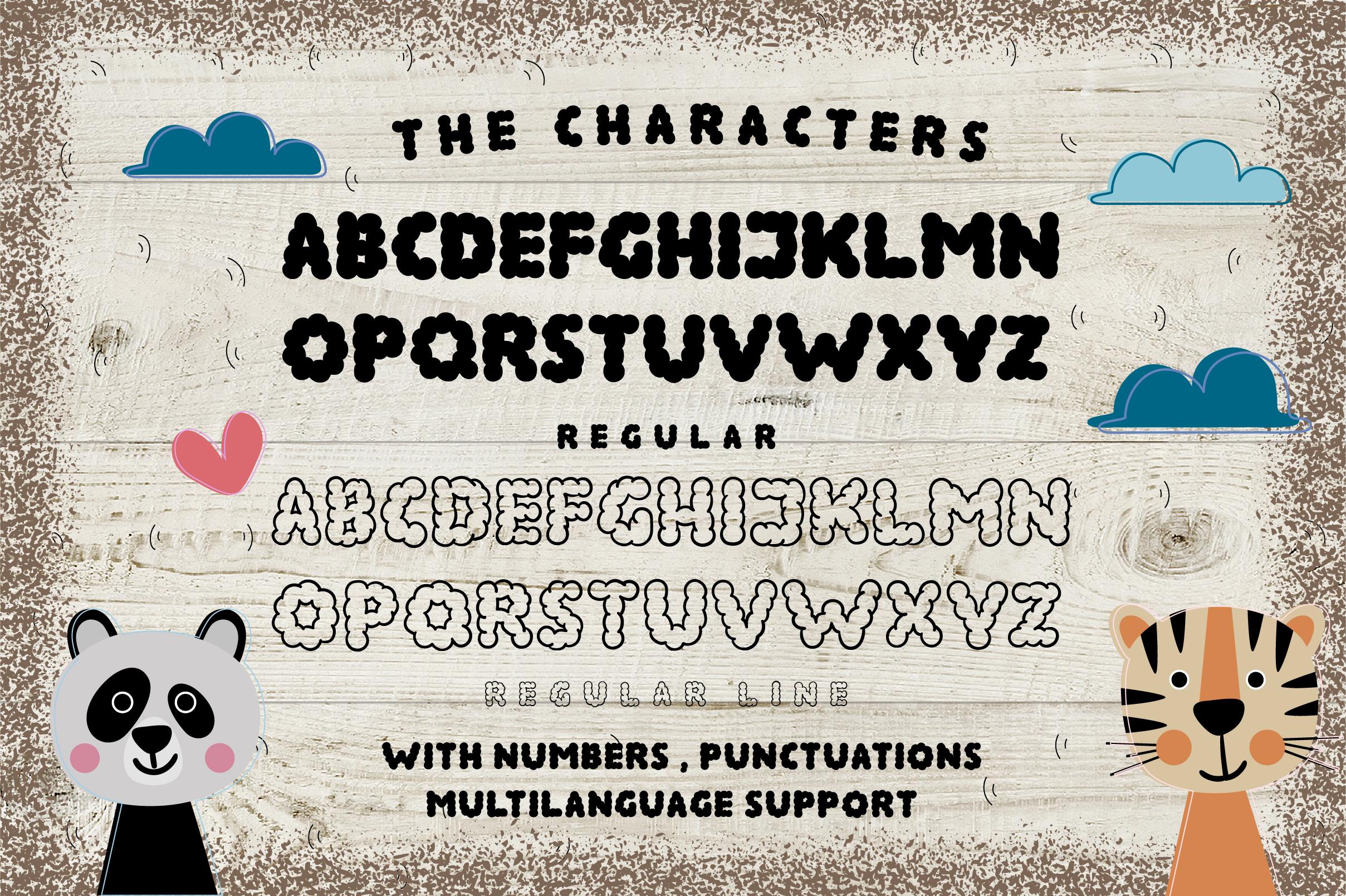 ALTOCUMULUS Font example image 2