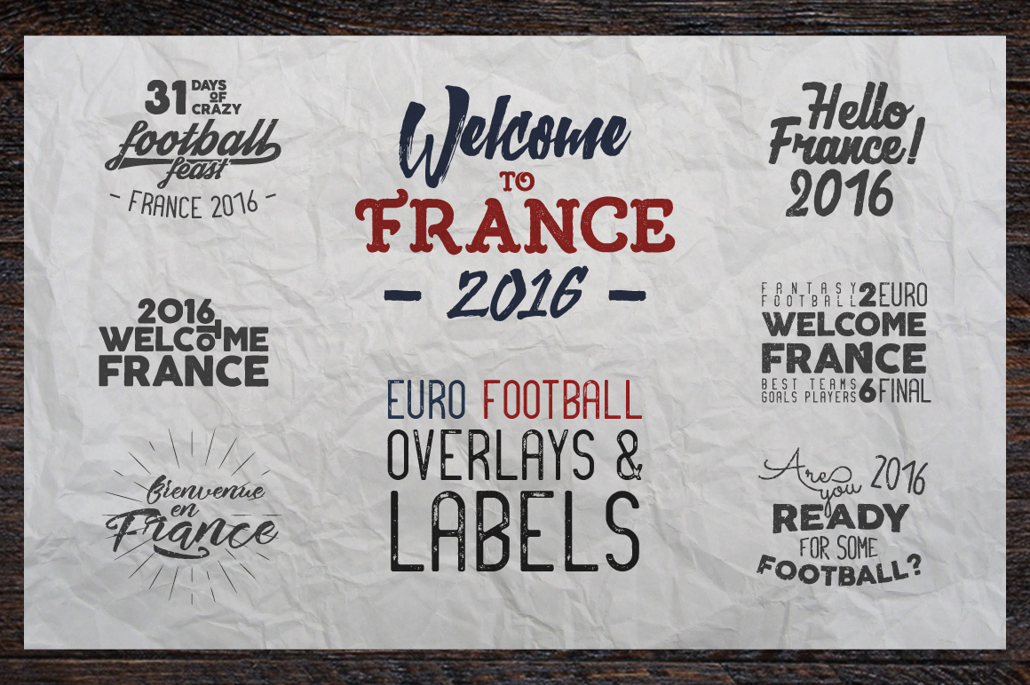 France 2016 Football Euro Labels example image 1