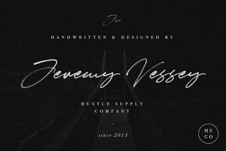 JV Signature SVG - Opentype SVG FONT example image 10