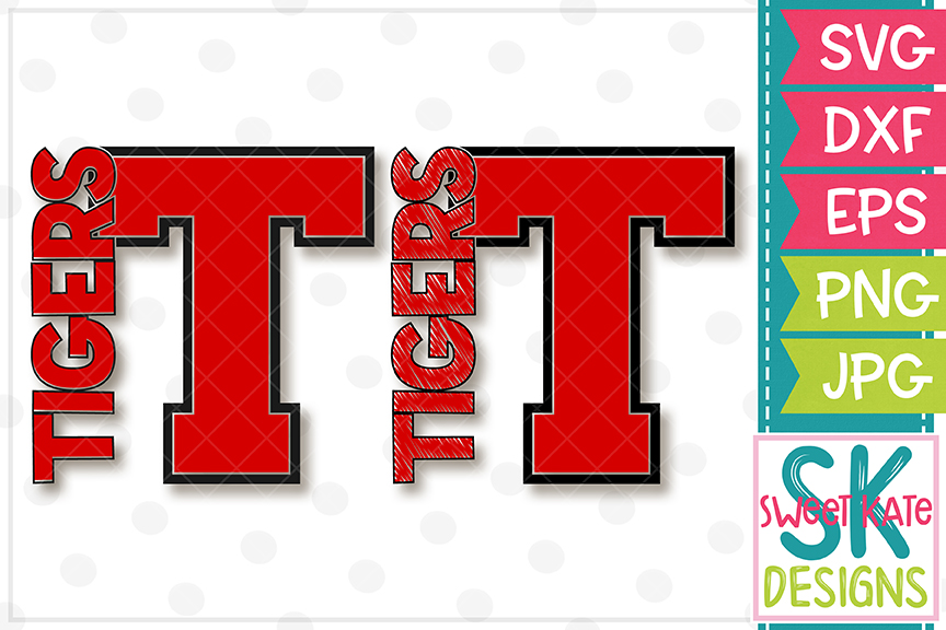 T Tigers SVG DXF EPS PNG JPG example image 1
