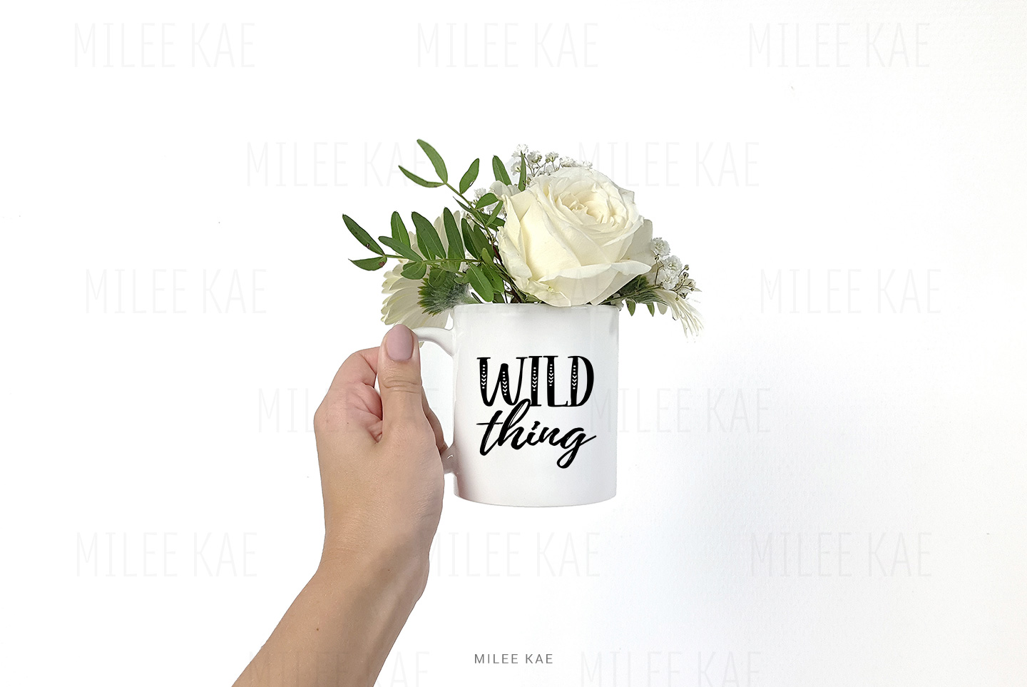White coffee mug mockup, JPG & PSD example image 3