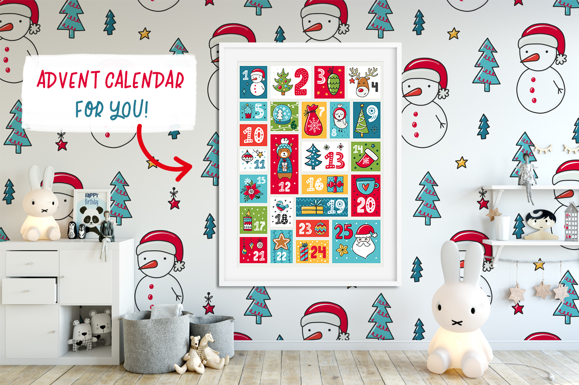 610+ Christmas Doodles - Clipart Set example image 8