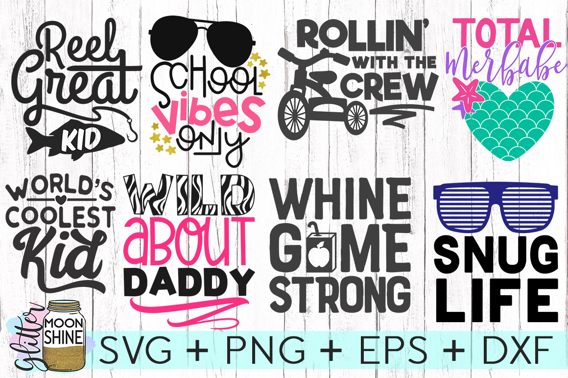 Kid's Life Bundle Of 57 SVG DXF PNG EPS Cutting Files example image 5