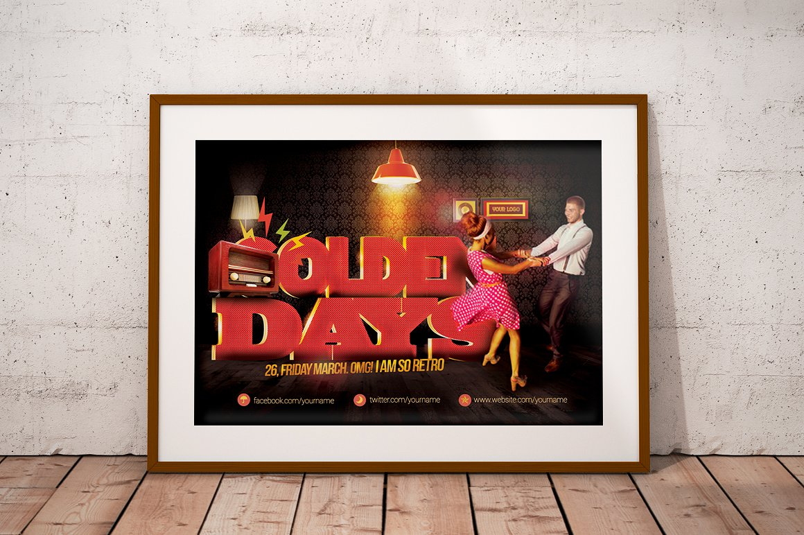 Golden Days Flyer Template example image 2