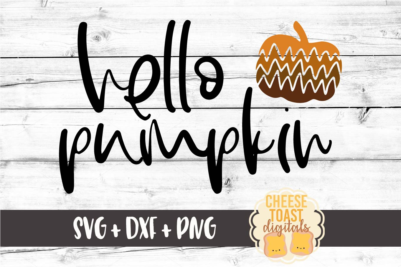 Hello Pumpkin - Fall SVG File - Pumpkin SVG example image 2