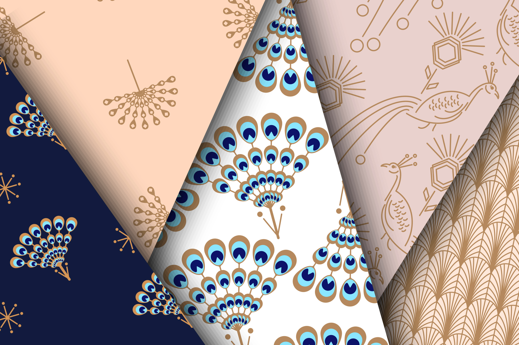 Peacock Fest - Seamless Patterns example image 4