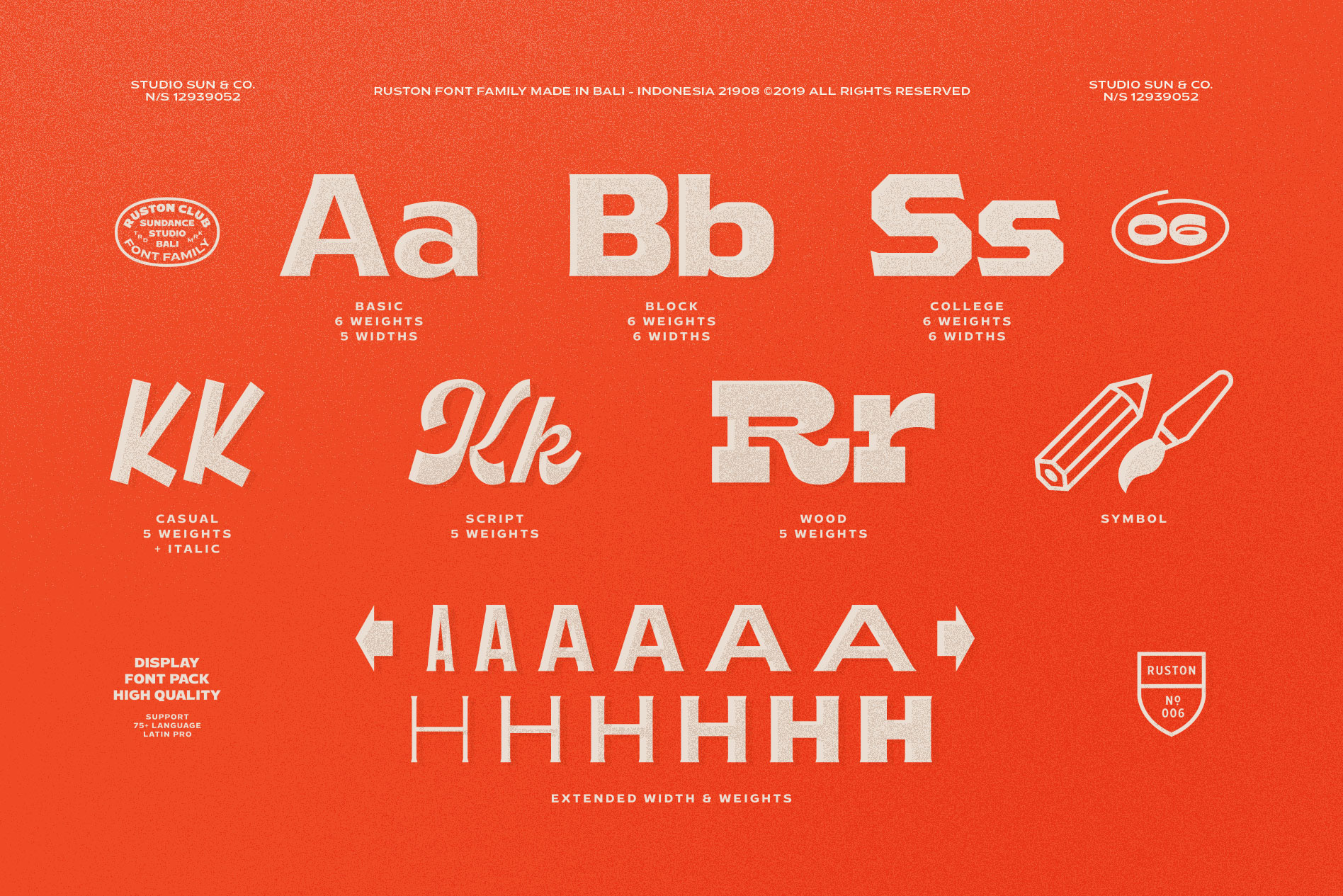 Ruston Font Family example image 5