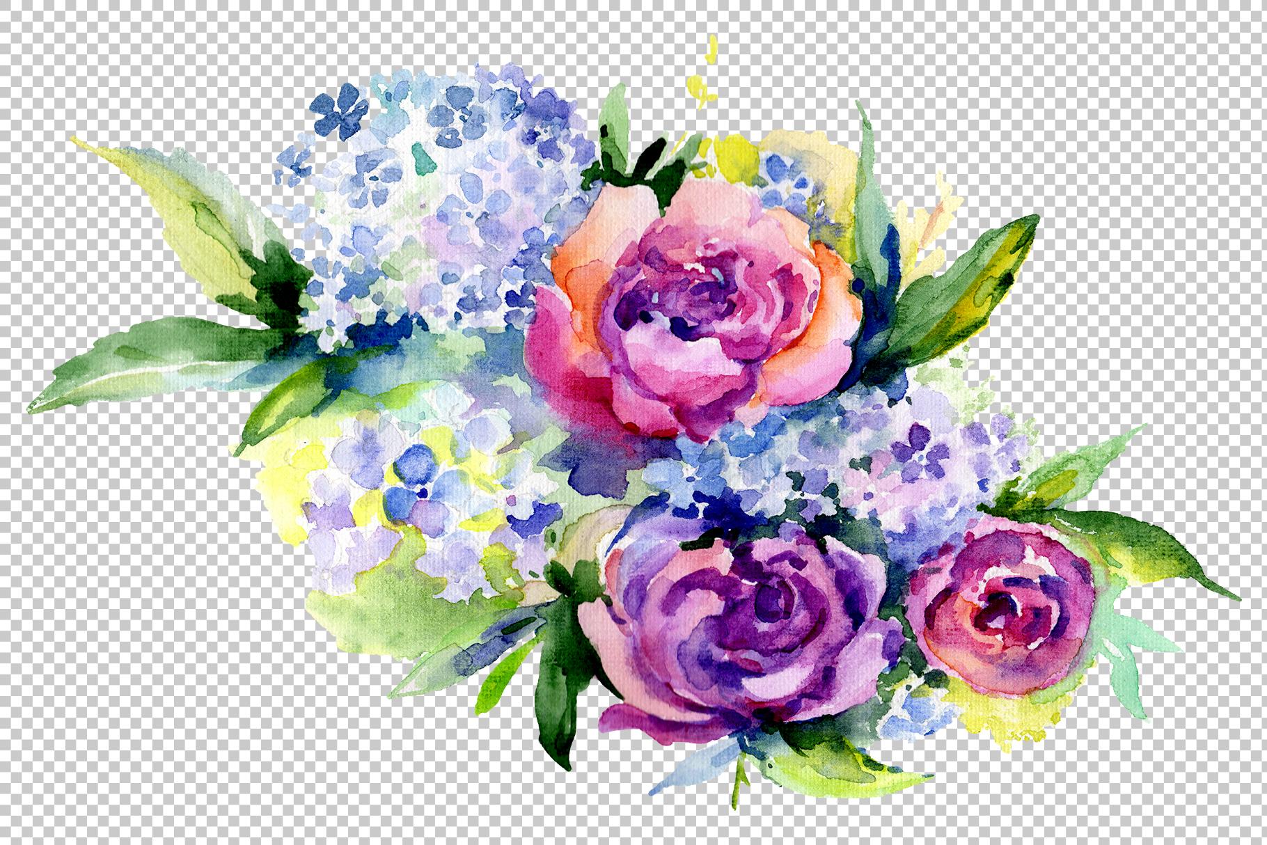 Bouquet Romantic Watercolor png example image 5