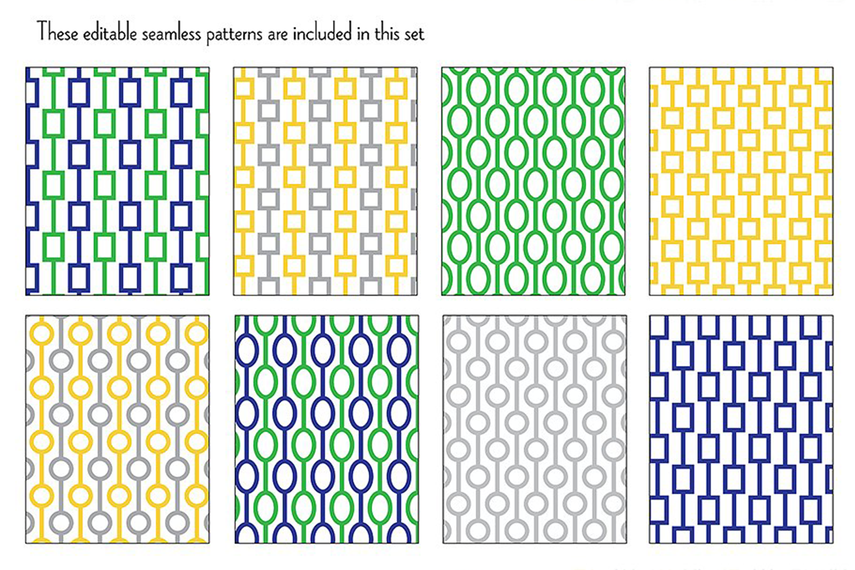 Mod Chain Patterns, Borders & Frames example image 3
