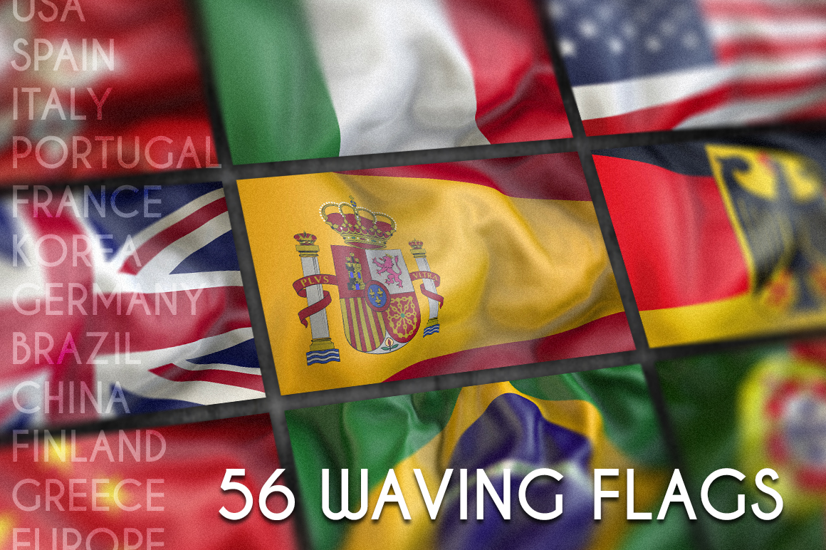 Waving flags example image 2