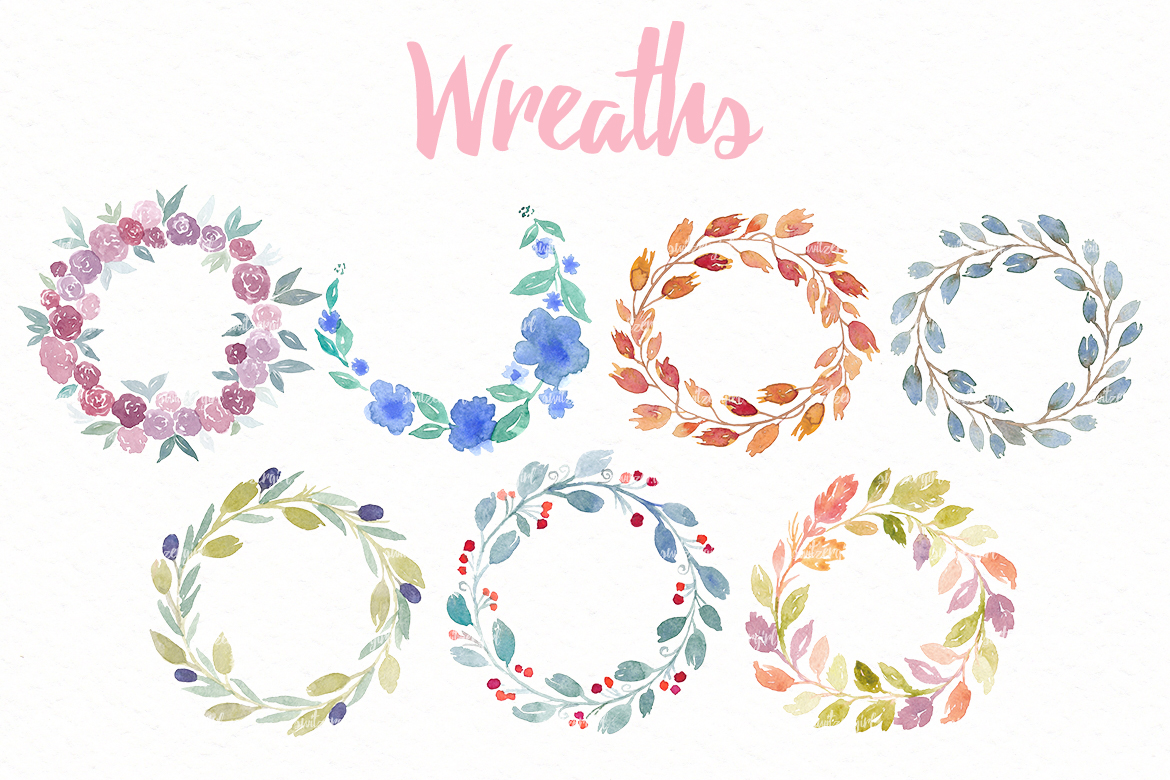 Watercolor Floral Pack example image 5