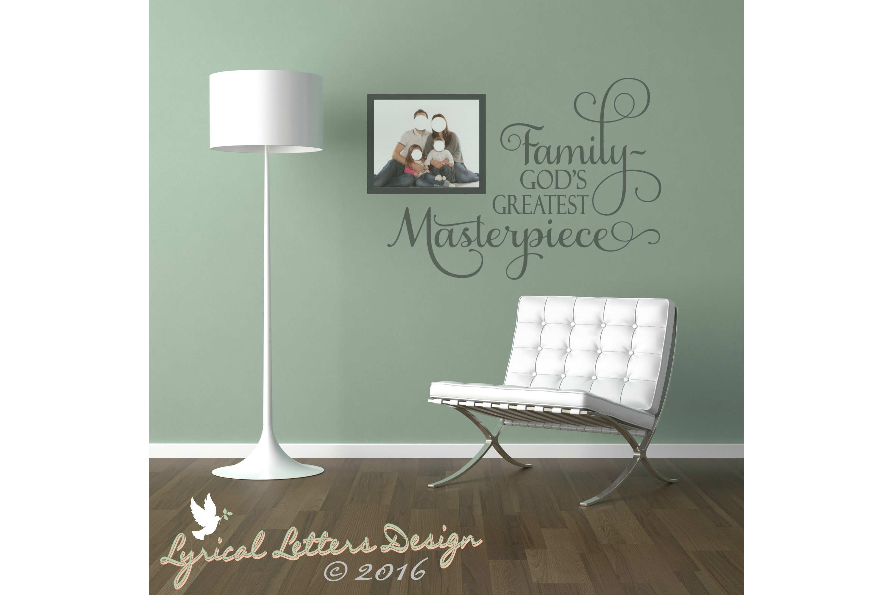 Family God's Greatest Masterpiece SVG DXF FCM LL010C example image 2