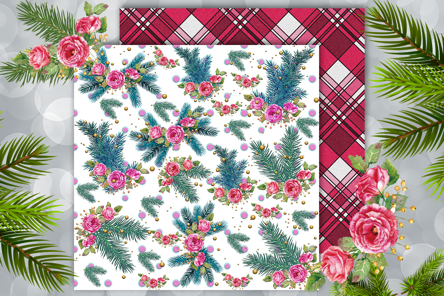 Christmas papers, jingle all the way, Scrapbook,BLACK FRIDAY example image 2