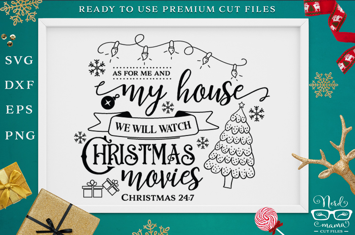 We will watch Christmas movies SVG Cut File example image 1