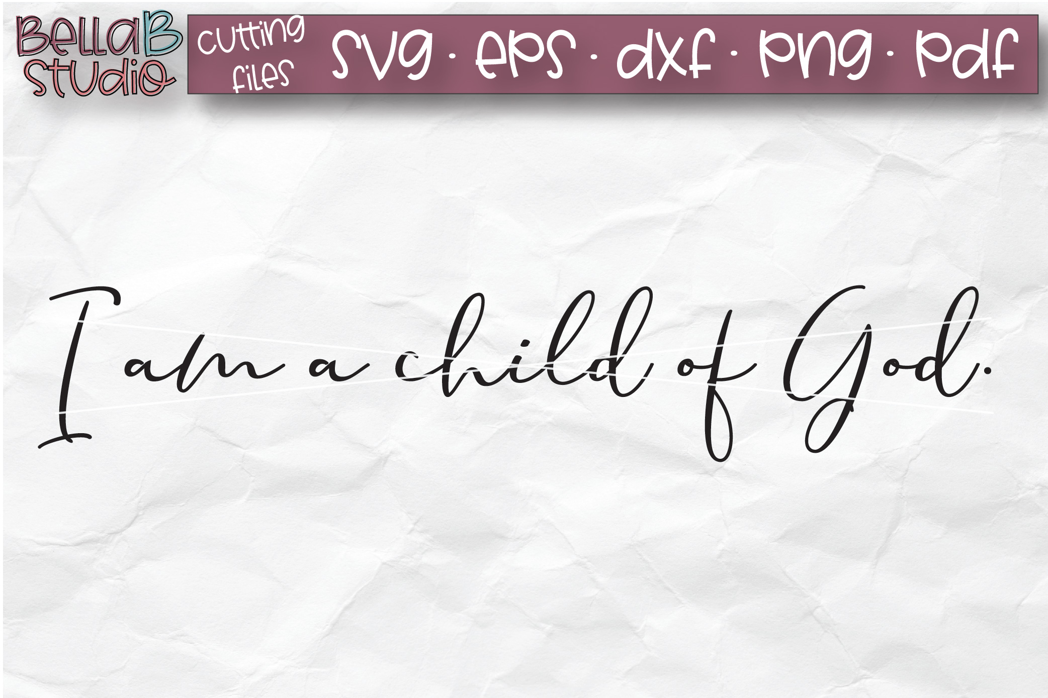 I Am A Child Of God SVG, Christian SVG, Wood Sign SVG example image 2