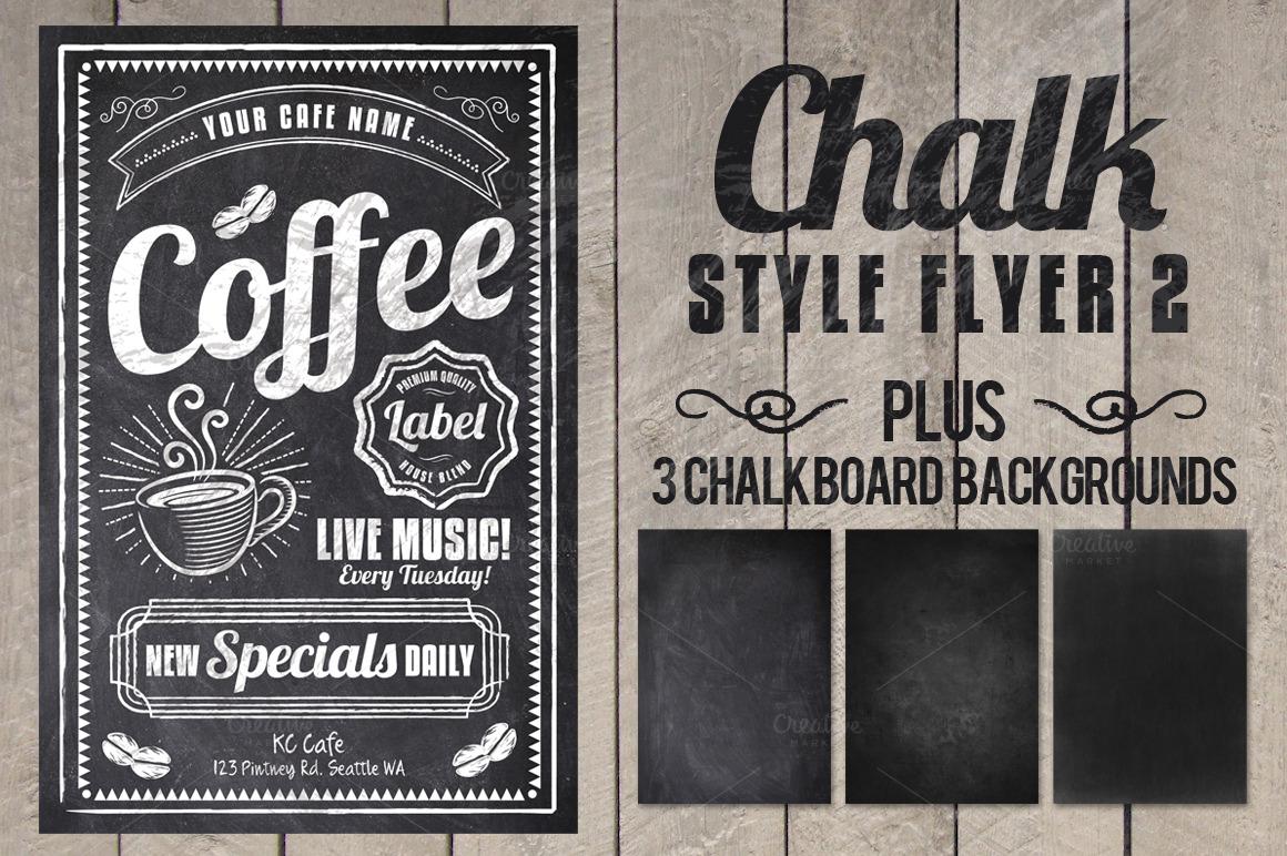Chalk Flyer Bundle Pack example image 2