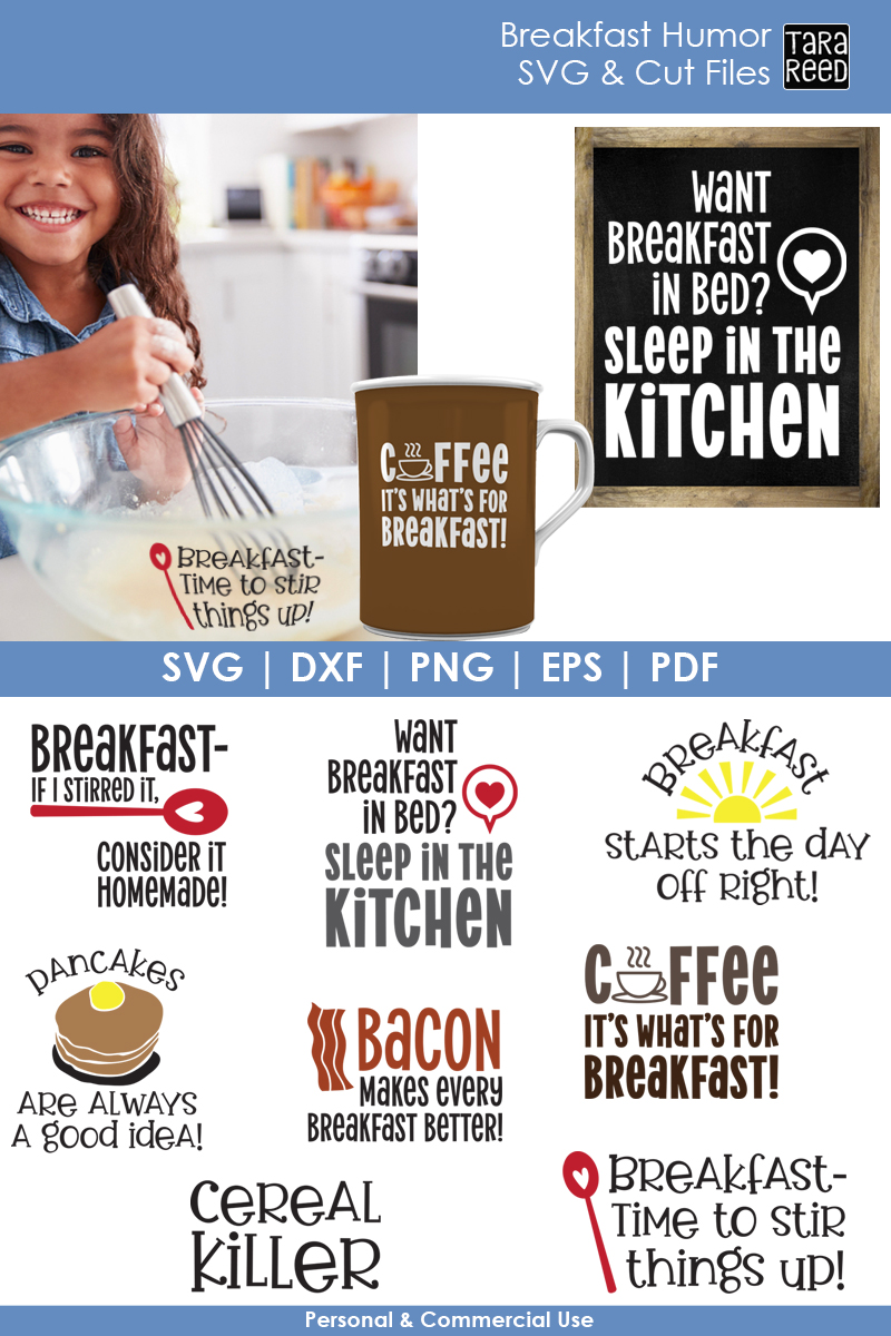 Breakfast Humor - Food SVG and Cut Files for Crafters example image 2